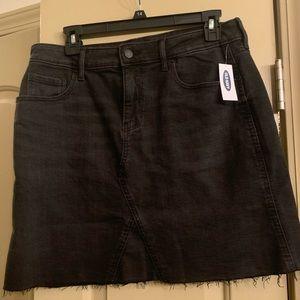 NWT black denim skirt